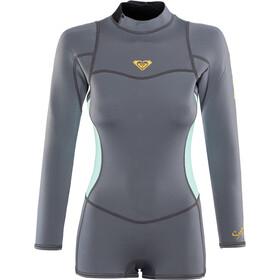 Roxy 2/2 Syncro Series Spring FLT Back Zip Wetsuit lange mouwen Dames, deep grey/glicer blue